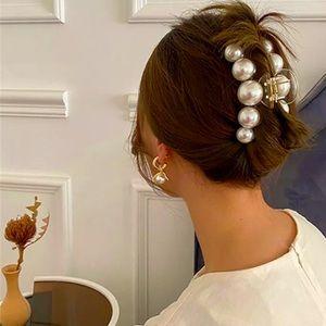 Big Pearl Acrylic Hair Claw Clip